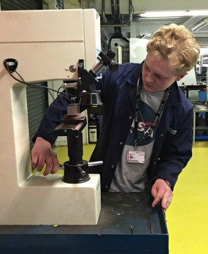 June 2016: Engineering and Technology Department at Milton Keynes College Choose Bowers Hardness Tester