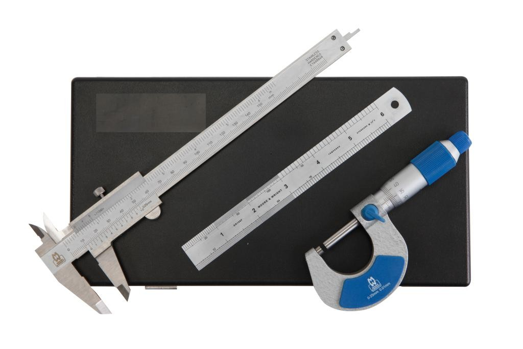 Micrometer, Vernier Caliper and Engineers' Rule Set