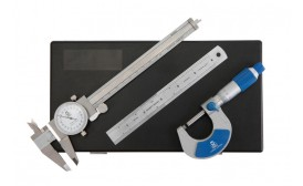 Micrometer, Dial Caliper and Engineers' Rule Set