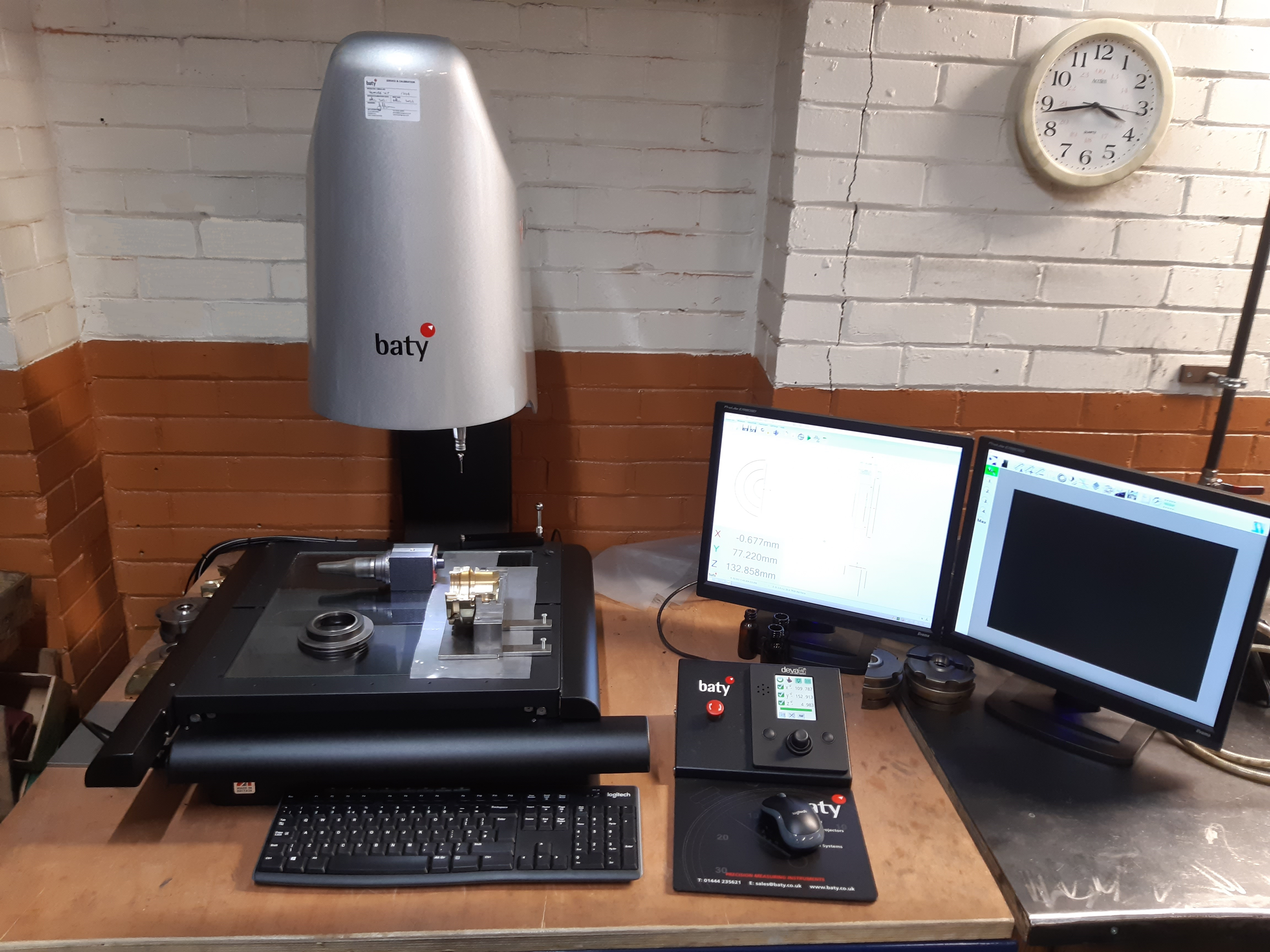 August 2021: Beatson Clark Mould Measurement Accuracy Problem Solved by Baty Venture XT Vision System