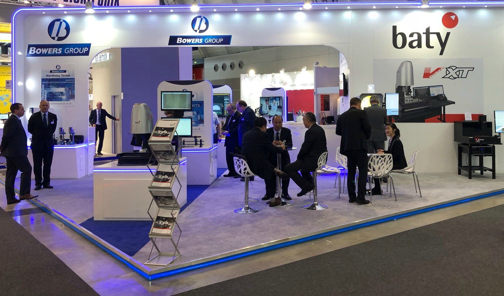Bowers Group stand at Control Exhibition